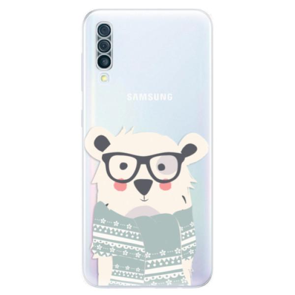 Odolné silikonové pouzdro iSaprio - Bear with Scarf - Samsung Galaxy A50