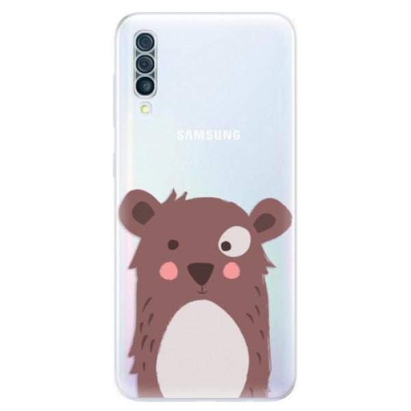 Odolné silikonové pouzdro iSaprio - Brown Bear - Samsung Galaxy A50