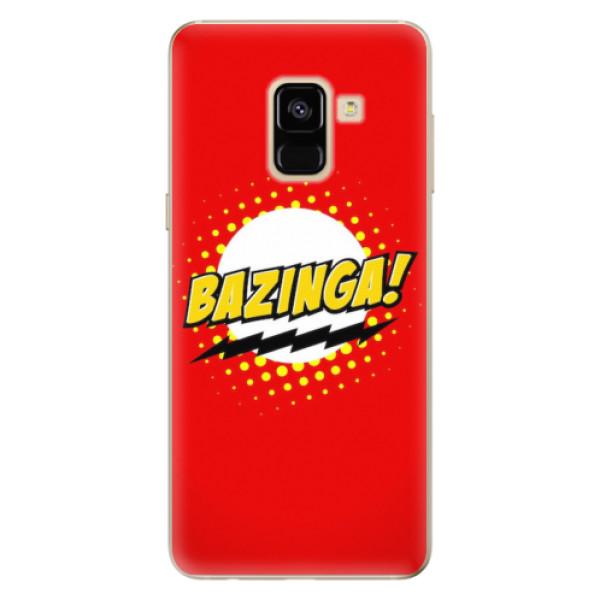 Odolné silikonové pouzdro iSaprio - Bazinga 01 - Samsung Galaxy A8 2018