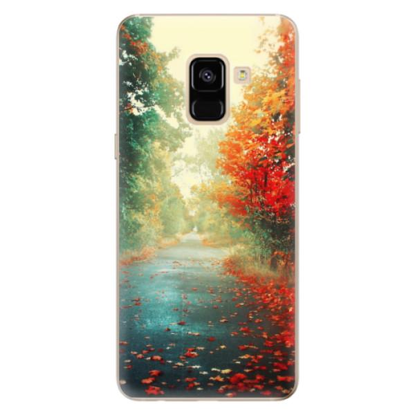 Odolné silikonové pouzdro iSaprio - Autumn 03 - Samsung Galaxy A8 2018