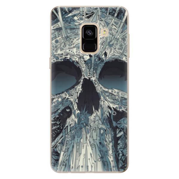 Odolné silikonové pouzdro iSaprio - Abstract Skull - Samsung Galaxy A8 2018