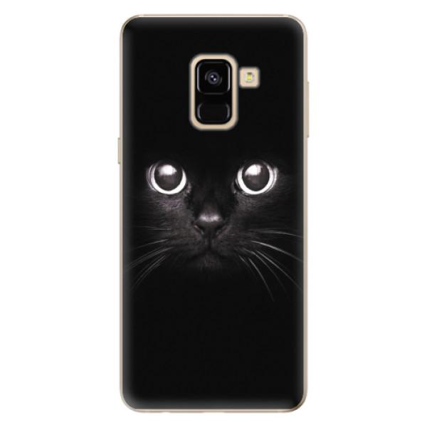 Odolné silikonové pouzdro iSaprio - Black Cat - Samsung Galaxy A8 2018