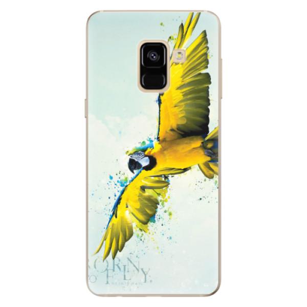 Odolné silikonové pouzdro iSaprio - Born to Fly - Samsung Galaxy A8 2018