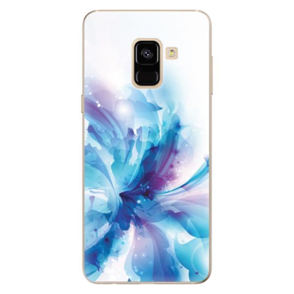 Odolné silikonové pouzdro iSaprio - Abstract Flower - Samsung Galaxy A8 2018