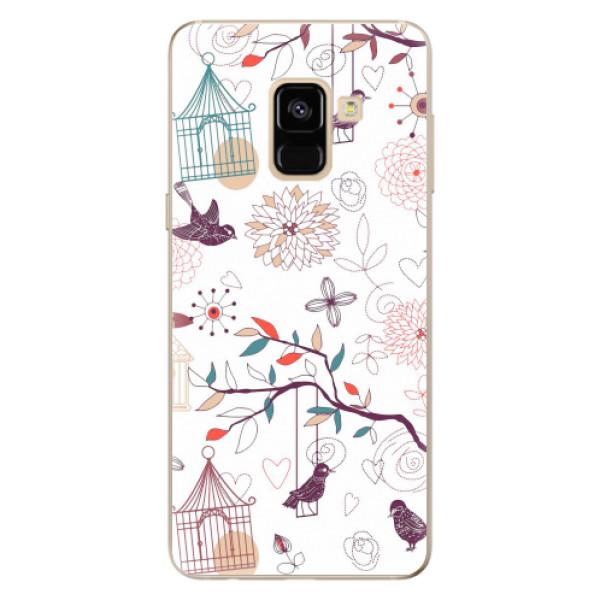 Odolné silikonové pouzdro iSaprio - Birds - Samsung Galaxy A8 2018