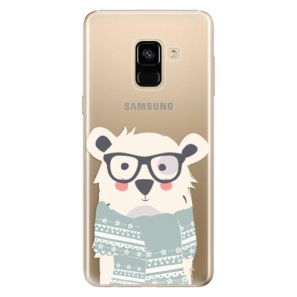 Odolné silikonové pouzdro iSaprio - Bear with Scarf - Samsung Galaxy A8 2018