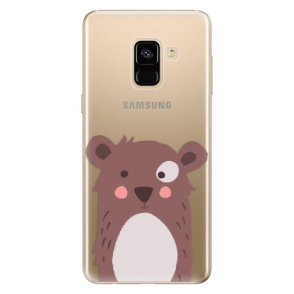 Odolné silikonové pouzdro iSaprio - Brown Bear - Samsung Galaxy A8 2018