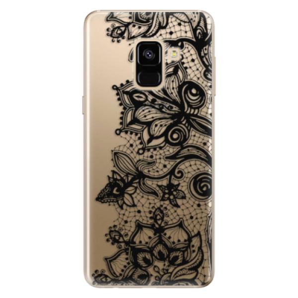 Odolné silikonové pouzdro iSaprio - Black Lace - Samsung Galaxy A8 2018