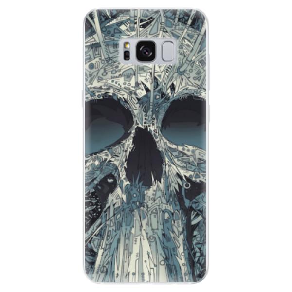 Odolné silikonové pouzdro iSaprio - Abstract Skull - Samsung Galaxy S8