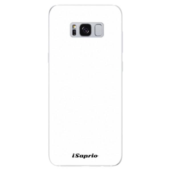 Odolné silikonové pouzdro iSaprio - 4Pure - bílý - Samsung Galaxy S8