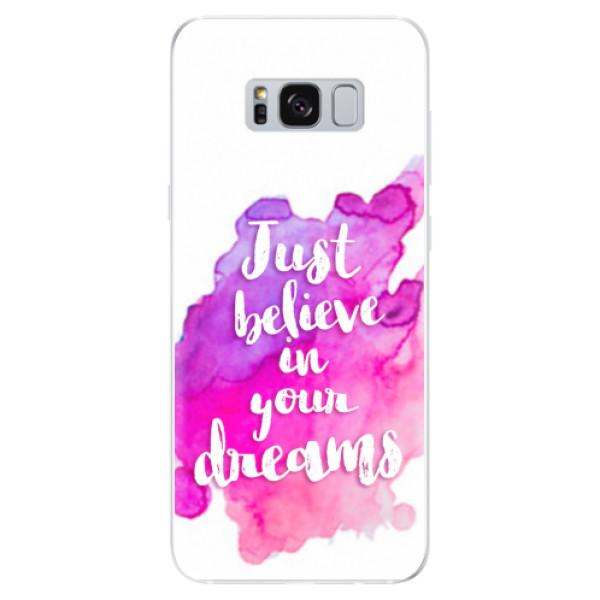 Odolné silikonové pouzdro iSaprio - Believe - Samsung Galaxy S8