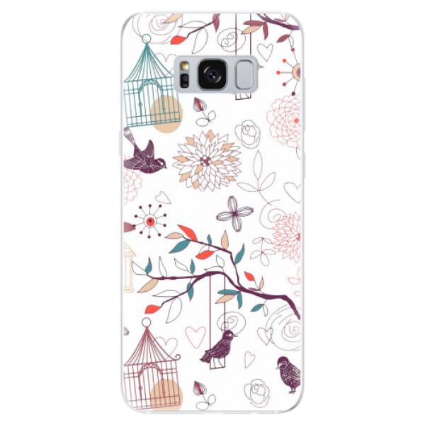Odolné silikonové pouzdro iSaprio - Birds - Samsung Galaxy S8