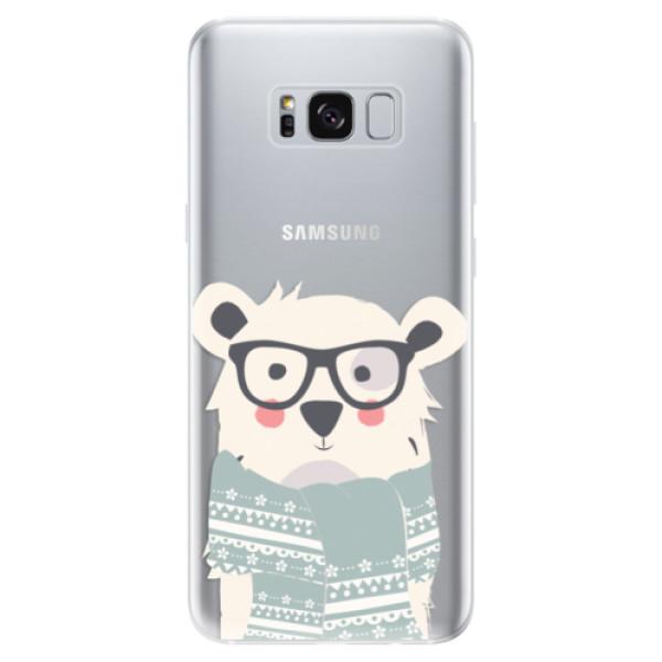 Odolné silikonové pouzdro iSaprio - Bear with Scarf - Samsung Galaxy S8