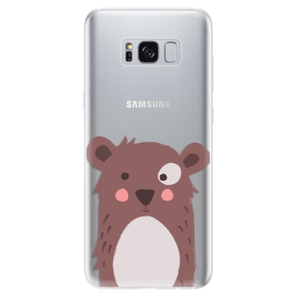 Odolné silikonové pouzdro iSaprio - Brown Bear - Samsung Galaxy S8