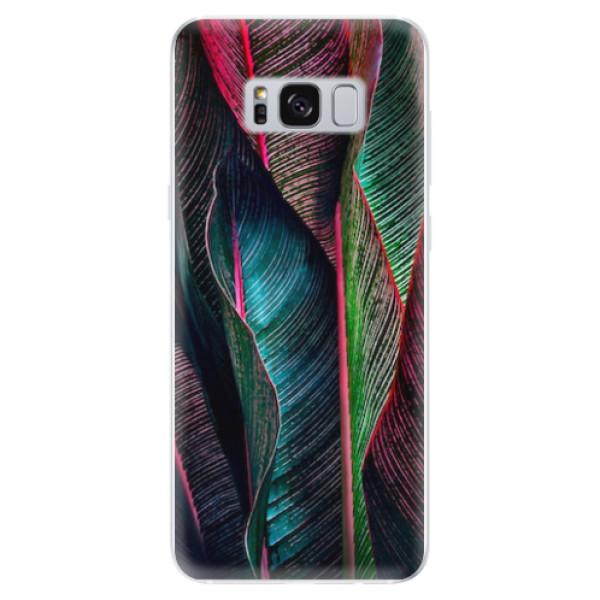 Odolné silikonové pouzdro iSaprio - Black Leaves - Samsung Galaxy S8