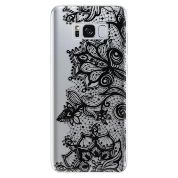 Odolné silikonové pouzdro iSaprio - Black Lace - Samsung Galaxy S8