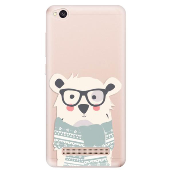 Odolné silikonové pouzdro iSaprio - Bear with Scarf - Xiaomi Redmi 4A