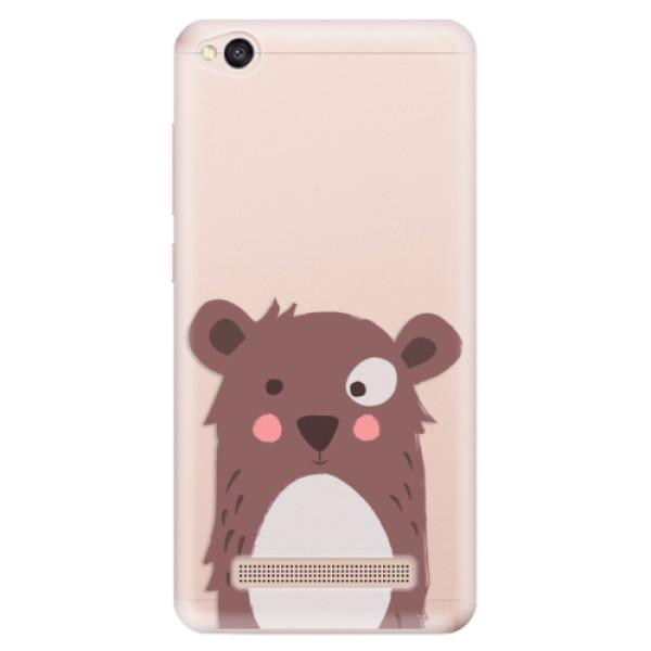 Odolné silikonové pouzdro iSaprio - Brown Bear - Xiaomi Redmi 4A