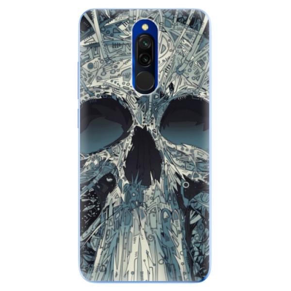 Odolné silikonové pouzdro iSaprio - Abstract Skull - Xiaomi Redmi 8