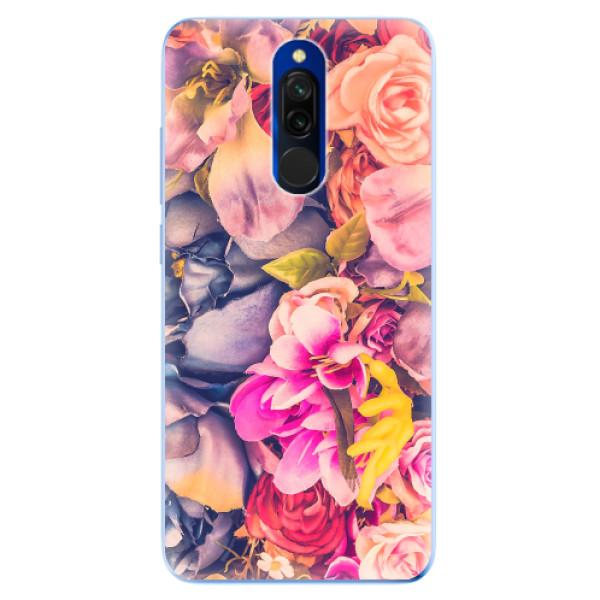 Odolné silikonové pouzdro iSaprio - Beauty Flowers - Xiaomi Redmi 8