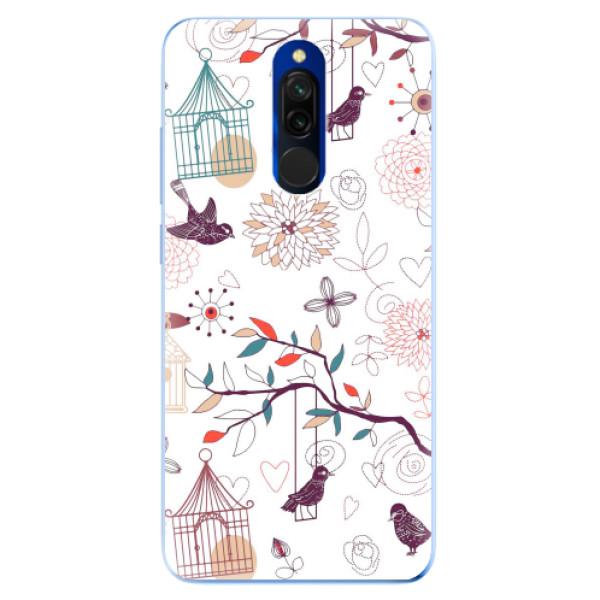 Odolné silikonové pouzdro iSaprio - Birds - Xiaomi Redmi 8