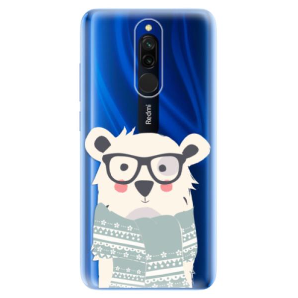 Odolné silikonové pouzdro iSaprio - Bear with Scarf - Xiaomi Redmi 8