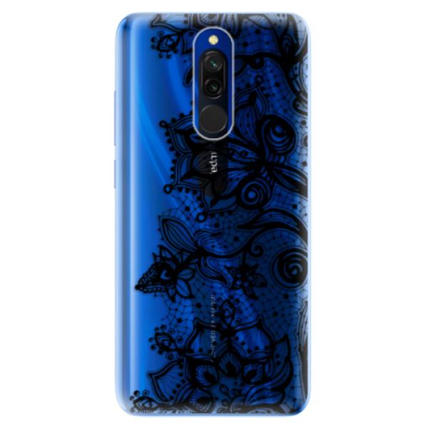 Odolné silikonové pouzdro iSaprio - Black Lace - Xiaomi Redmi 8