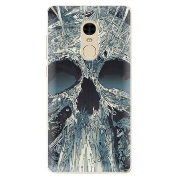 Odolné silikonové pouzdro iSaprio - Abstract Skull - Xiaomi Redmi Note 4