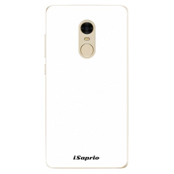 Odolné silikonové pouzdro iSaprio - 4Pure - bílý - Xiaomi Redmi Note 4