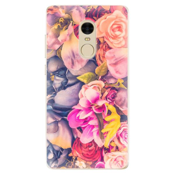 Odolné silikonové pouzdro iSaprio - Beauty Flowers - Xiaomi Redmi Note 4