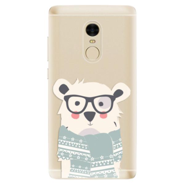 Odolné silikonové pouzdro iSaprio - Bear with Scarf - Xiaomi Redmi Note 4