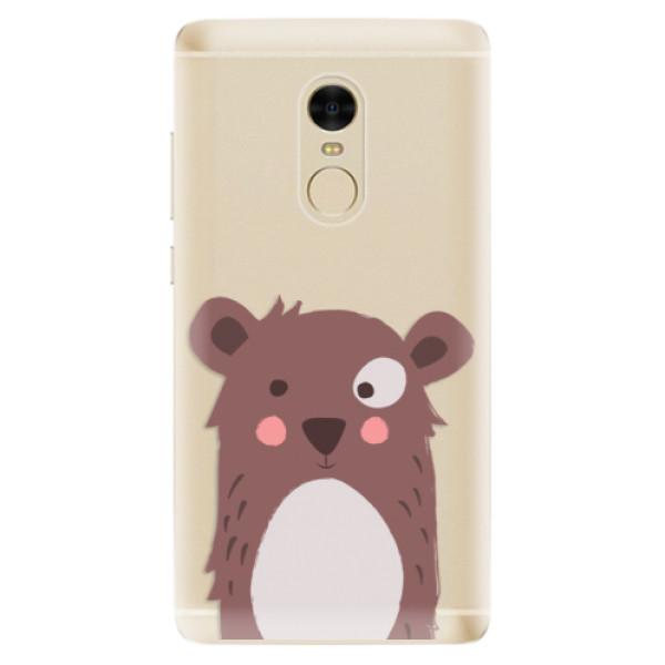 Odolné silikonové pouzdro iSaprio - Brown Bear - Xiaomi Redmi Note 4