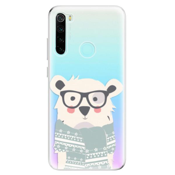 Odolné silikonové pouzdro iSaprio - Bear with Scarf - Xiaomi Redmi Note 8