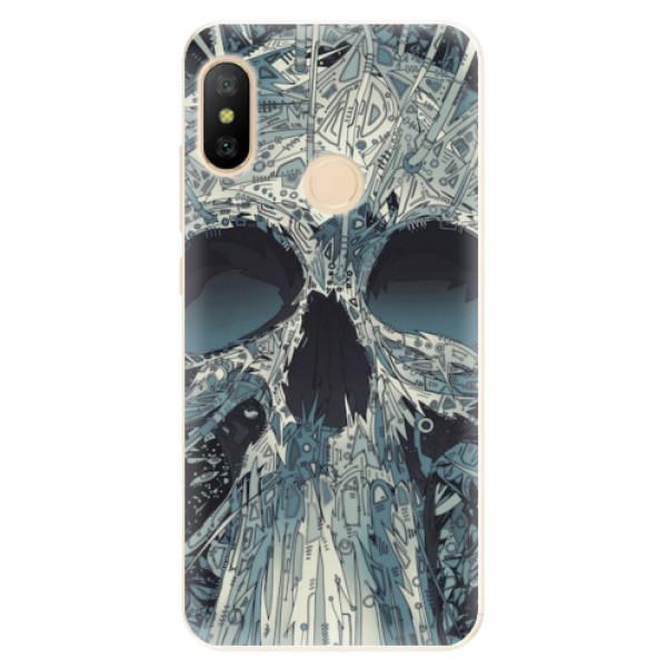 Odolné silikonové pouzdro iSaprio - Abstract Skull - Xiaomi Mi A2 Lite