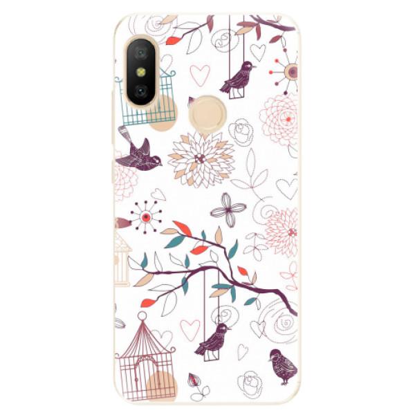 Odolné silikonové pouzdro iSaprio - Birds - Xiaomi Mi A2 Lite