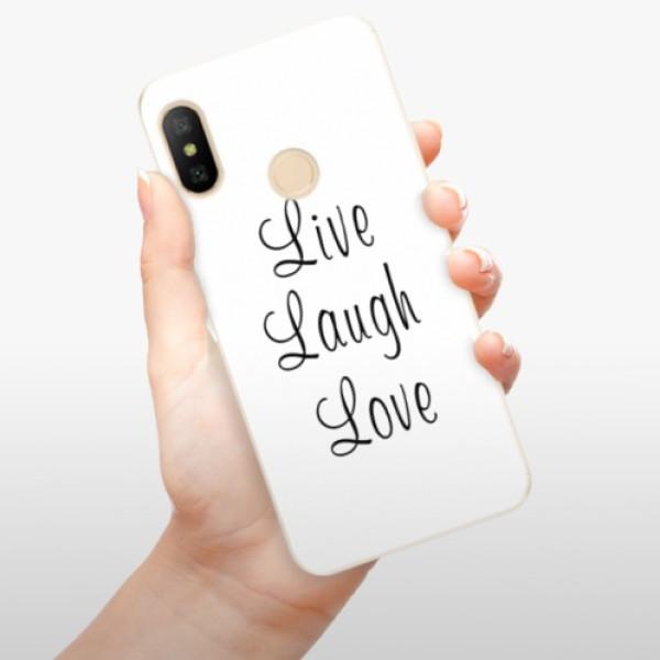 Odolné silikonové pouzdro iSaprio - Live Laugh Love - Xiaomi Mi A2 Lite