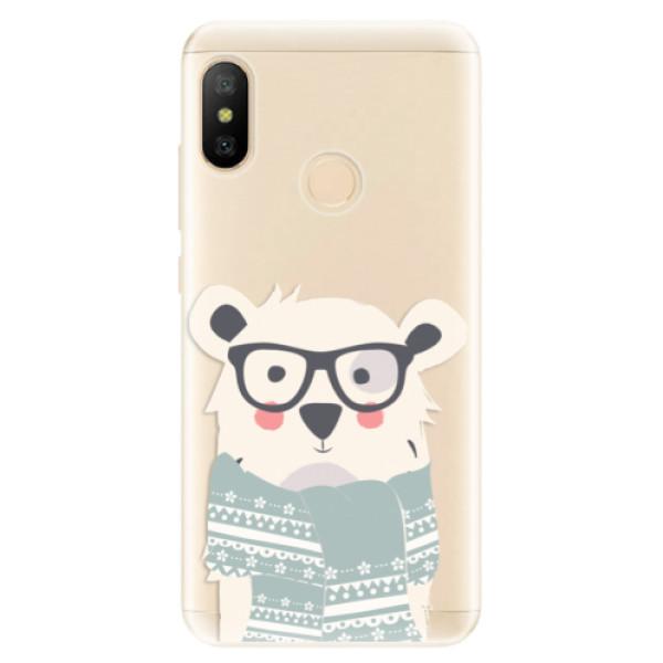 Odolné silikonové pouzdro iSaprio - Bear with Scarf - Xiaomi Mi A2 Lite