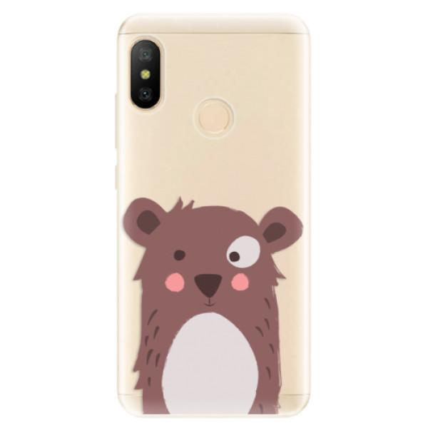 Odolné silikonové pouzdro iSaprio - Brown Bear - Xiaomi Mi A2 Lite