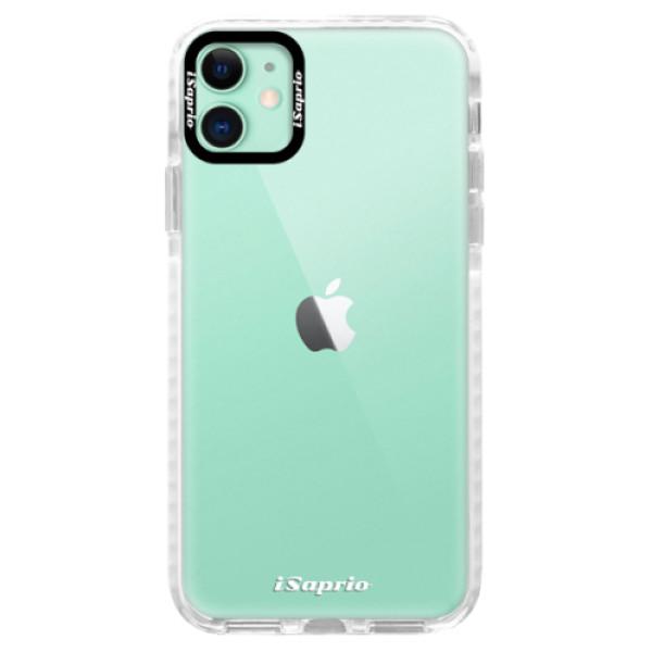 Silikonové pouzdro Bumper iSaprio - 4Pure - mléčný bez potisku - iPhone 11