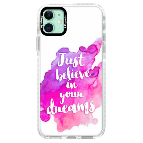 Silikonové pouzdro Bumper iSaprio - Believe - iPhone 11