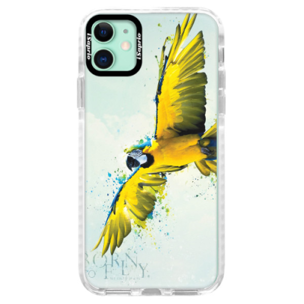 Silikonové pouzdro Bumper iSaprio - Born to Fly - iPhone 11
