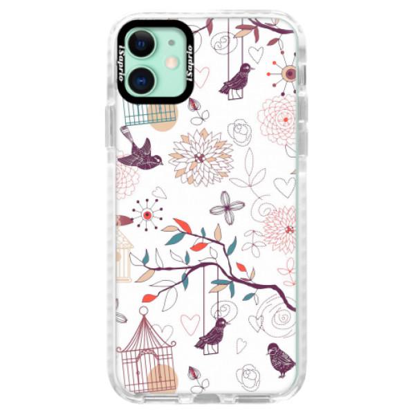 Silikonové pouzdro Bumper iSaprio - Birds - iPhone 11