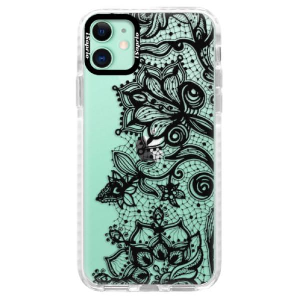Silikonové pouzdro Bumper iSaprio - Black Lace - iPhone 11