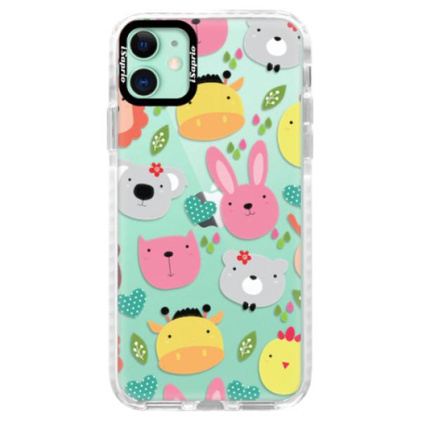 Silikonové pouzdro Bumper iSaprio - Animals 01 - iPhone 11