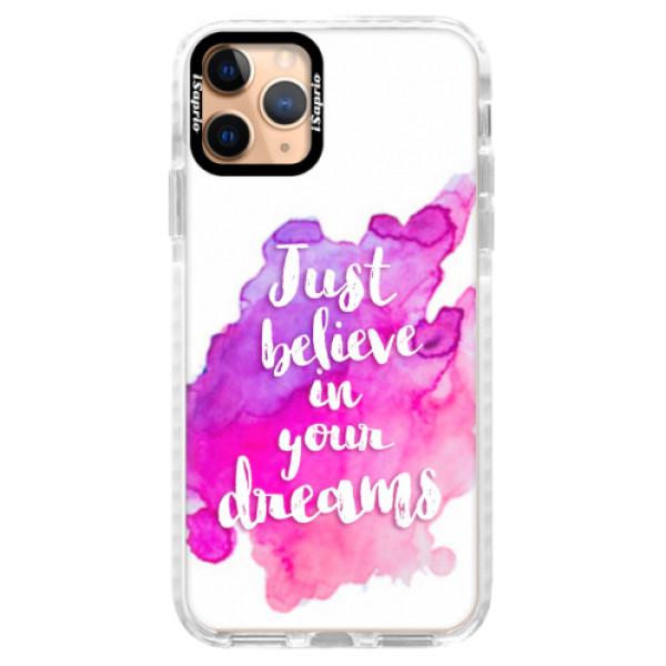 Silikonové pouzdro Bumper iSaprio - Believe - iPhone 11 Pro