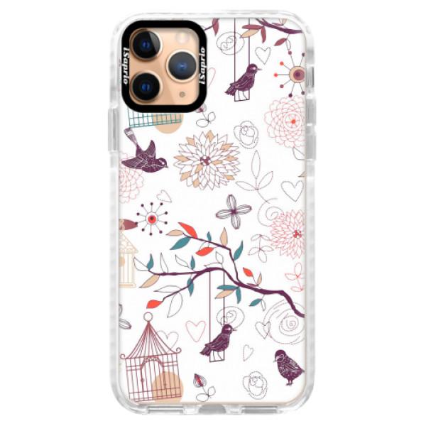 Silikonové pouzdro Bumper iSaprio - Birds - iPhone 11 Pro