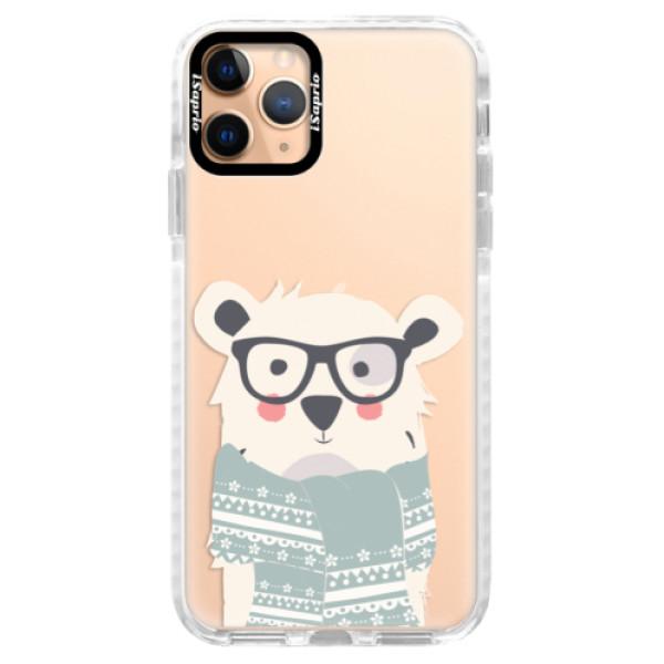 Silikonové pouzdro Bumper iSaprio - Bear with Scarf - iPhone 11 Pro