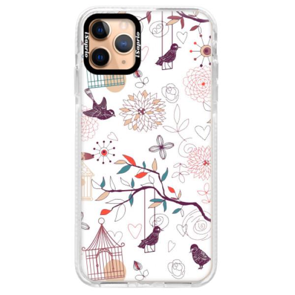 Silikonové pouzdro Bumper iSaprio - Birds - iPhone 11 Pro Max