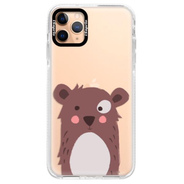 Silikonové pouzdro Bumper iSaprio - Brown Bear - iPhone 11 Pro Max