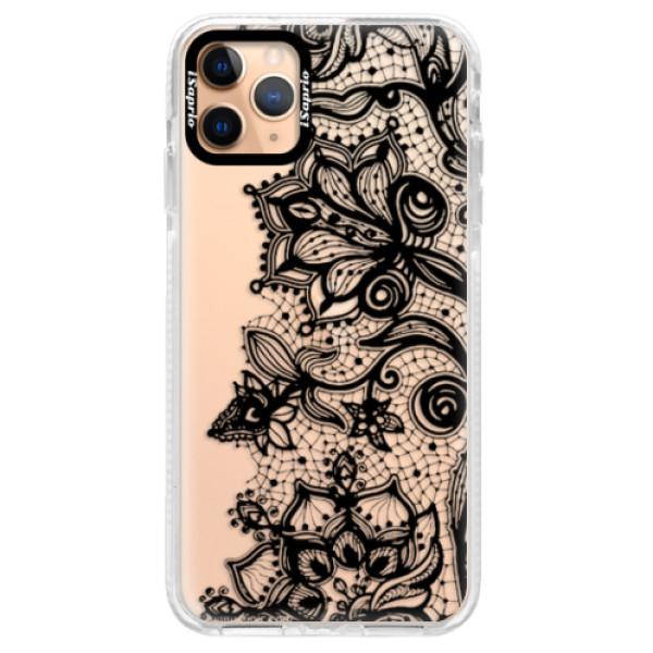 Silikonové pouzdro Bumper iSaprio - Black Lace - iPhone 11 Pro Max